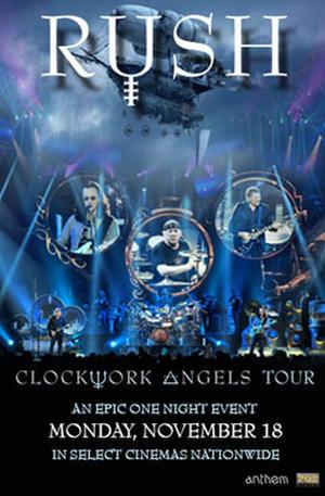 """Poster art for """"RUSH Clockwork Angels Tour."""""""