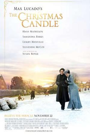 "Poster art for ""The Christmas Candle."""
