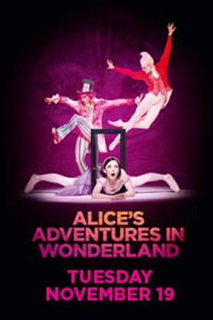 "Poster art for ""Royal Opera House: Alice's Adventures in Wonderland."""