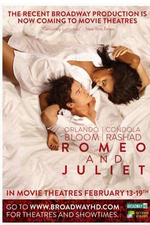 "Poster art for ""Romeo and Juliet."""