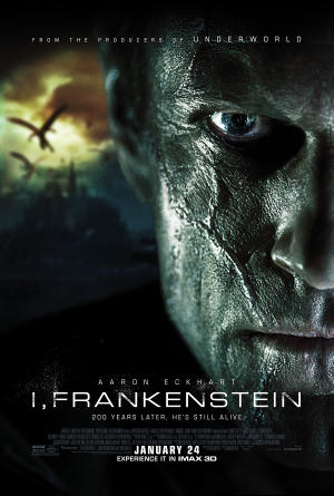 "Poster art for ""I, Frankenstein - An IMAX 3D Experience."""