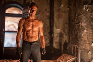 "Aaron Eckhart as Adam in ""I, Frankenstein."""
