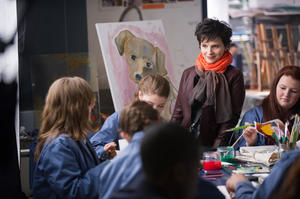 """Juliette Binoche still for """"Words and Pictures"""""""