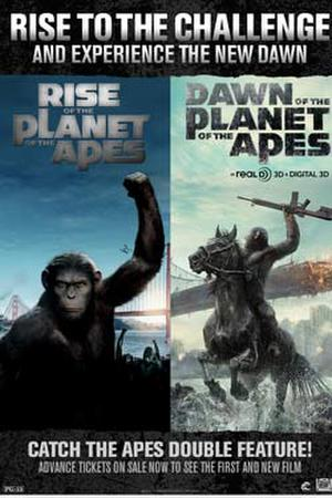 "Poster art for ""Apes Double Feature."""