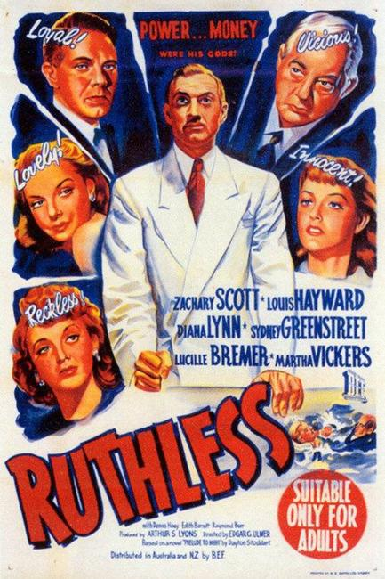 Ruthless / Edgar G. Ulmer - The Man Off-Screen Photos + Posters