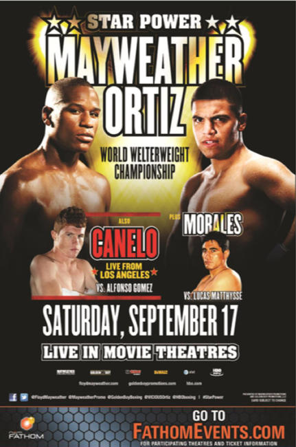 Mayweather vs. Ortiz Fight Live Photos + Posters