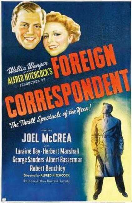 Foreign Correspondent Photos + Posters