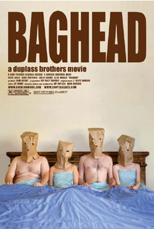 """Poster art for """"Baghead."""""""