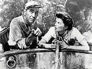 A scene from ``The African Queen.''