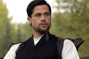 "Brad Pitt in ""The Assassination of Jesse James by the Coward Robert Ford."""