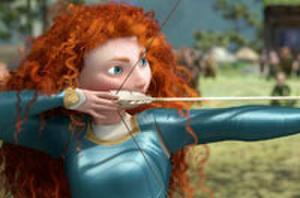 Snapshot: Jessica Chastain Takes Aim Channeling Disney Pixar's 'Brave'