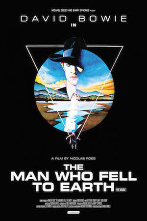 """Poster art for """"The Man Who Fell to Earth."""""""