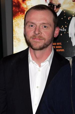 """Hot Fuzz"" star Simon Pegg at a N.Y. screening."