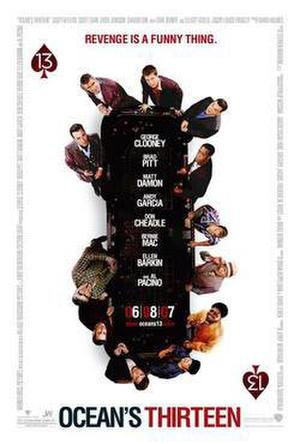 "Poster art for ""Ocean's Thirteen."""