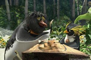 """A scene from the film """"Surf's Up."""""""