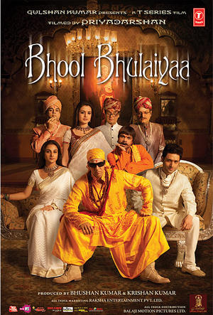 "Poster art for ""Bhool Bhulaiyaa."""