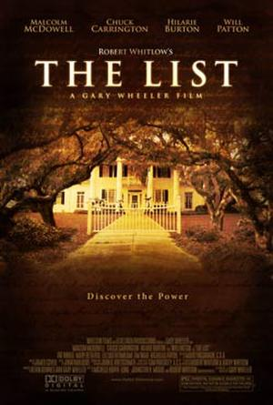 "Poster art for ""The List."""