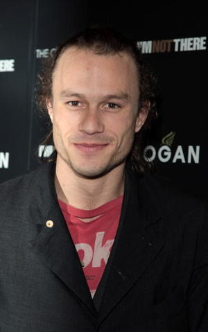 """""""I'm Not There"""" star Heath Ledger at the N.Y. premiere."""