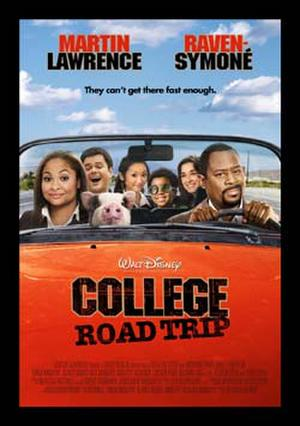 """Poster art for """"College Road Trip."""""""