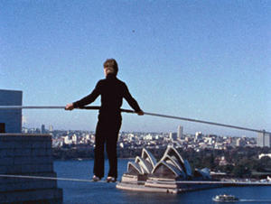 "A scene from ""Man on Wire."""