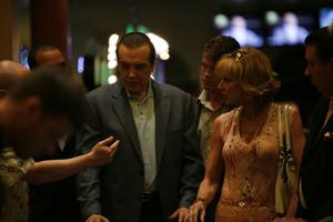 "Chazz Palminteri as Yonkers Joe and Christine Lahti as Janice in ""Yonkers Joe."""