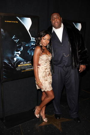 "Naturi Naughton and Jamal Woolard at the New York premiere of ""Notorious."""