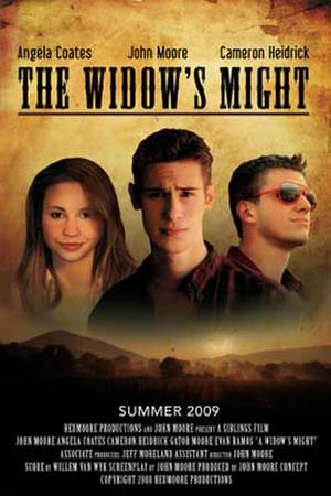 "Poster art for ""The Widow's Might."""
