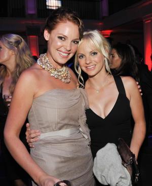 "Katherine Heigl and Anna Faris at the after party of the California premiere of ""The Ugly Truth."""