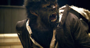 "A scene from ""The Wolfman."""