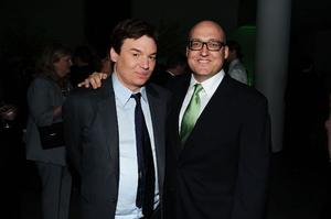 "Mike Myers and director Mike Mitchell at the after party of the New York premiere of ""Shrek Forever After."""