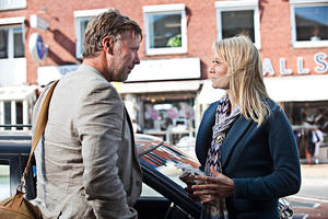 "Mikael Persbrandt as Anton and Trine Dyrholm as Marianne in ""In a Better World."""