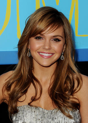 """Aimee Teegarden at the California premiere of """"Prom."""""""
