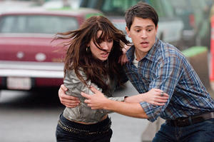 "Jacqueline MacInnes-Wood as Olivia Castle and Nicholas D'Agosto as Sam in ""Final Destination 5."""