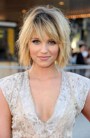 "Dianna Agron at the California premiere of ""Glee The Concert Movie."""