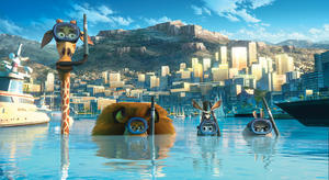 """A scene from """"Madagascar 3: Europe's Most Wanted."""""""