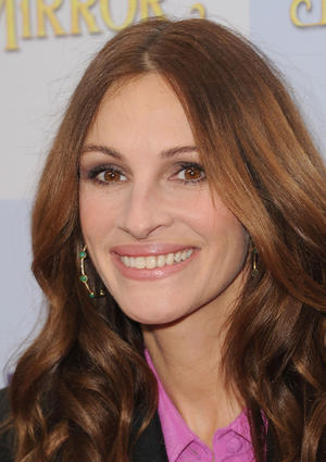 "Julia Roberts at the California premiere of ""Mirror Mirror."""
