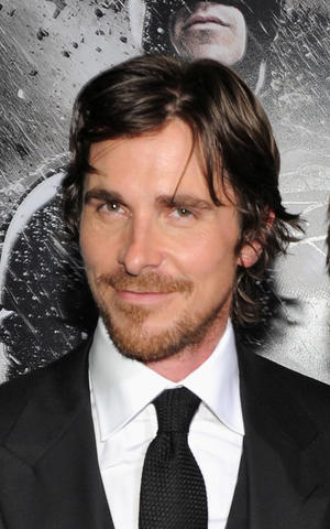 "Christian Bale at the New York premiere of ""The Dark Knight Rises."""
