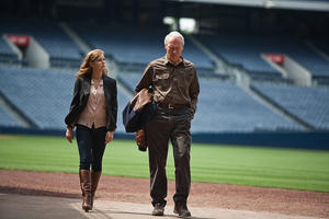 "Amy Adams as Mickey and Clint Eastwood as Gus in ""Trouble With the Curve."""