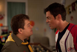 "Patton Oswalt and Johnny Knoxville in ""Nature Calls."""