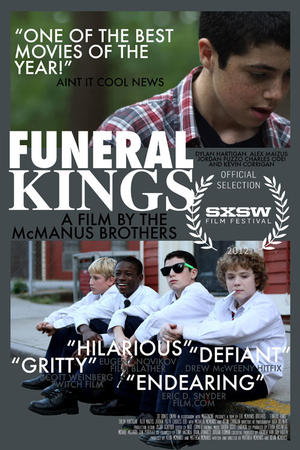 "Poster art for ""Funeral Kings."""