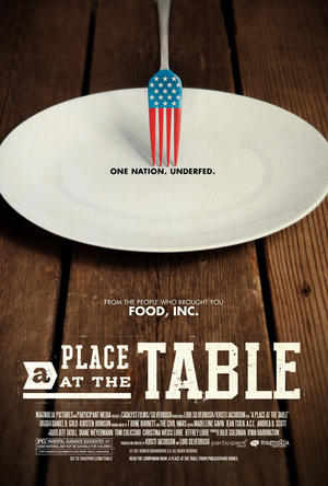 "Poster art for ""A Place at the Table."""
