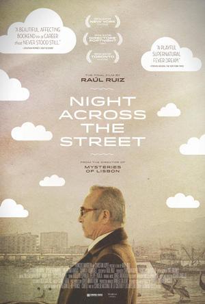 """Poster art for """"Night Across The Street."""""""