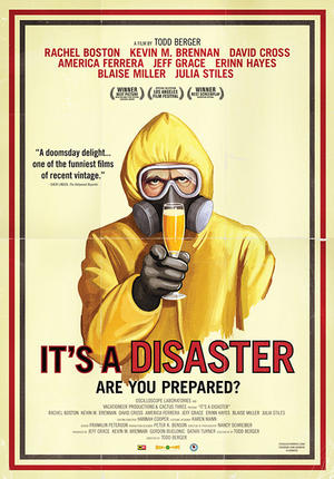 "Poster art for ""It's A Disaster."""