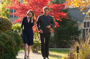 "Julianne Moore as Linda Sinclare and Greg Kinnear as Tom Sherwood in ""The English Teacher."""