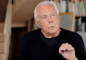 "Giorgio Armani in ""Scatter My Ashes at Bergdorf's."""