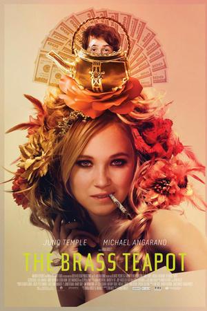 "Poster art for ""The Brass Teapot."""