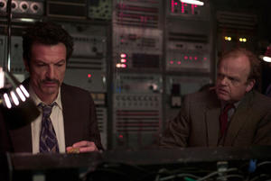 "Cosimo Fusco and Toby Jones in ""Berberian Sound Studio."""