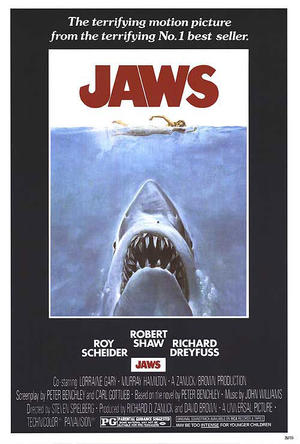 "Poster art for ""Jaws."""