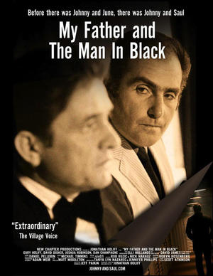 "Poster art for ""My Father and the Man in Black."""