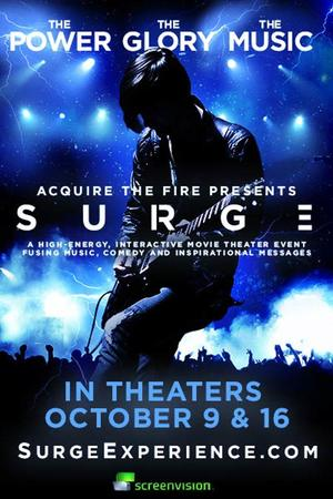 """Poster art for """"Acquire The Fire Presents: Surge."""""""